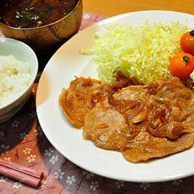 豚の生姜焼き定食 -Ginger pork set-